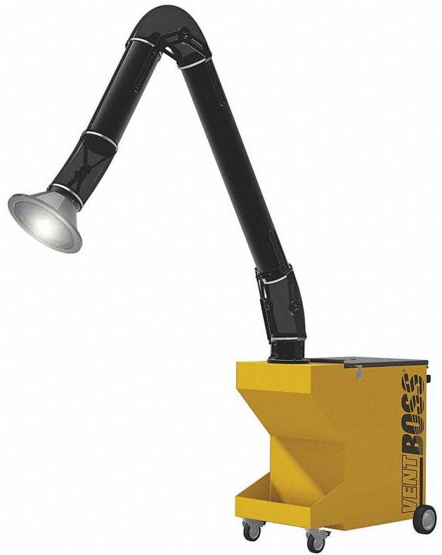 "VentBoss Portable Weld Fume Extractor w/ Single 6"" x 10' Lighted Fume Arm 750 CFM G110"