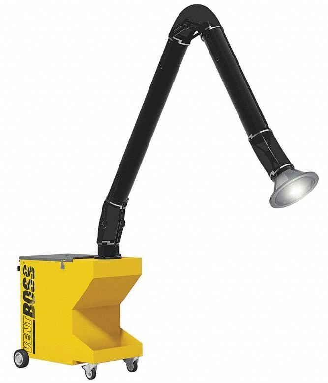 "VentBoss Portable Weld Fume Extractor w/ Single 6"" x 14' Lighted Fume Arm 750 CFM G111"