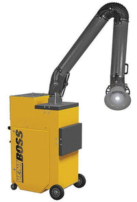 "VentBoss Portable Weld Fume Extractor w/ Single 8"" x 10' Lighted Fume Arm 1200 CFM G120"