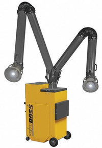 "VentBoss Portable Weld Fume Extractor w/ Two 6"" x 14' Lighted Fume Arm 1200 CFM G124"