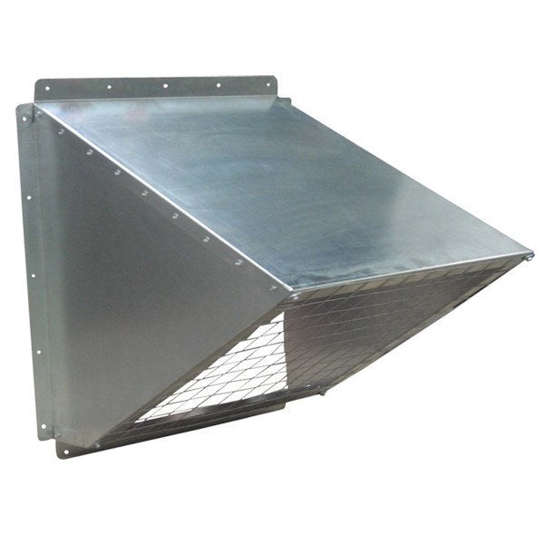 36 inch Galvanized Weather Hood w/ Birdscreen GH-KD36, [product-type] - Industrial Fans Direct