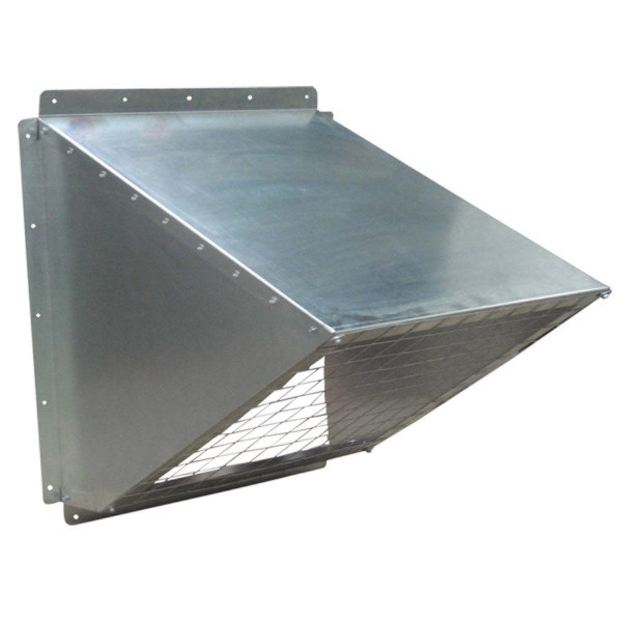 24 inch Galvanized Weather Hood w/ Birdscreen GH-KD24, [product-type] - Industrial Fans Direct