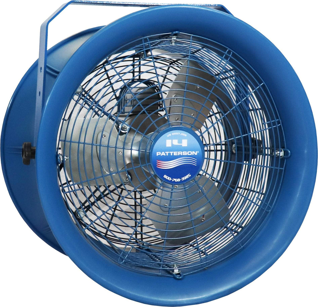 Patterson Fan | H14A High Velocity Industrial Barrel Fan 14 Inch 2600 CFM (choose mount) H14A