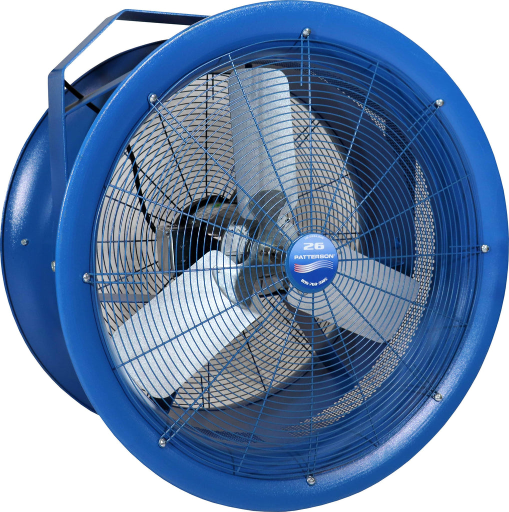 Patterson High Velocity Industrial Barrel Fan 26 Inch w/ Mounting Options 7650 CFM (multi-pack discount) H26A