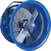 Patterson High Velocity Industrial Barrel Fan 30 Inch w/ Mounting Options 12000 CFM 277V 1 Phase (multi-pack discount) H30C