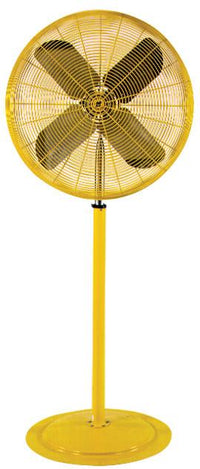 Heavy Duty Safety Yellow Pedestal Fan 2 Speed 30 inch 9850 CFM HDH30-HDM-P