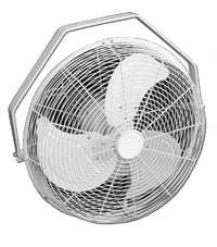 White High Velocity Outdoor Rated Air Circulator Fan 18 inch 6357 CFM 3 Speed HVW-18M
