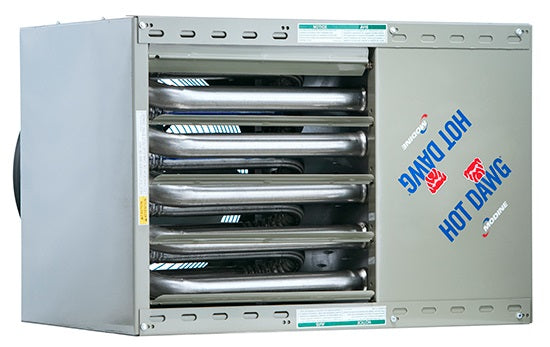 Modine Hot Dawg Power Vented Natural Gas Stainless Steel Garage Unit Heater 45000 BTU 115V 1 Phase HD45SS0111