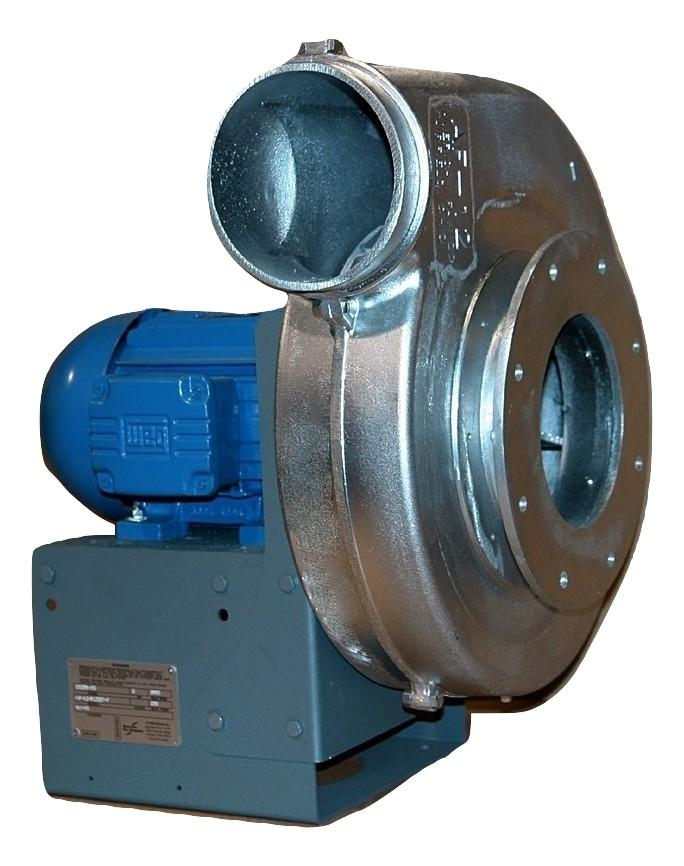 "Aluminum Radial Pressure Blower 10 inch Inlet / 8 inch Outlet 1600 CFM at 1"" SP 3 Phase"