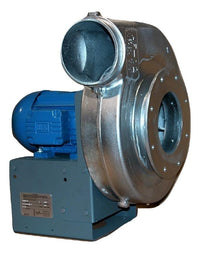 "Aluminum Radial Pressure Blower 8 inch Inlet / 8 inch Outlet 3000 CFM at 1"" SP 3 Phase"