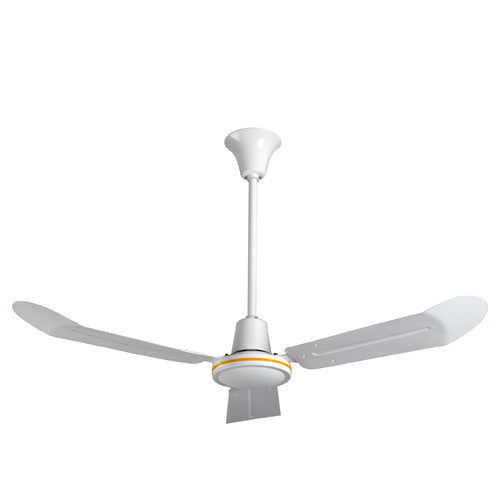 White Commercial Forward/Reverse Ceiling Fan 48 inch 21000 CFM INDA484L, [product-type] - Industrial Fans Direct
