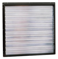 Triangle Intake Motorized Damper Shutter for Opposite Wall 31 inch w/ Electric Operator RIWS24