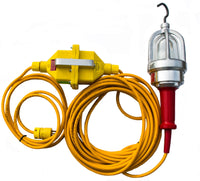 Worksite Lighting 12 Volt Explosion Proof Incandescent Hand Lamp Inline System (25', 50', 75' or 100' cord lengths) DWXPIL25-12, DWXPIL50-12, DWXPIL75-12, DWXPIL100-12