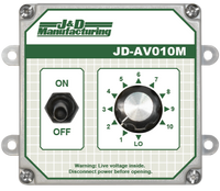 J&D Universal Manual Control w/ Switch & Dial 1 Stage 115-277 Volt JDAV010M