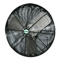 High Output Black Deluxe Air Circulator Fan 1 Speed 36 Inch 9550 CFM 3 Phase (multi-pack discount) VDB363