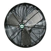 High Output Black Deluxe Air Circulator Fan 1 Speed 30 Inch 6840 CFM 3 Phase (multi-pack discount) VDB303