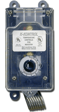 Portable Moisture Proof Single Stage K-Kontrol Thermostat 30F - 110F w/ 8 Ft. Cord KP16110