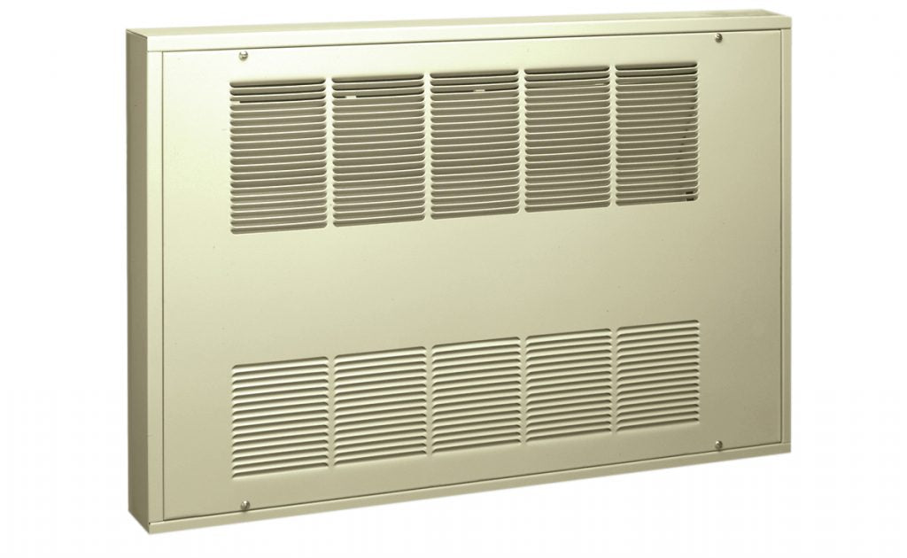 KCF Compact 4 ft. Wide Cabinet Heater w/ Thermostat 13648 BTU 4000 Watt 277V 1 Ph KCF4-2740-1-S-TP-DS1-3PS