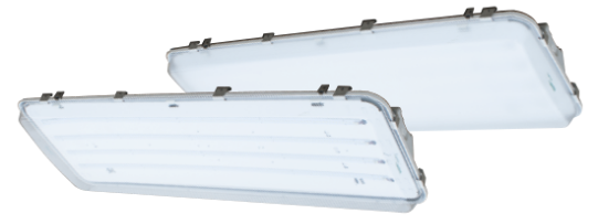 LED High Bay Strip Light Frosted Lens w/ 10' Cord & Plug 37280 Lumens LEDHB300-24F-C