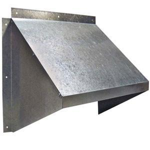 24 inch Galvanized Weather Hood, [product-type] - Industrial Fans Direct