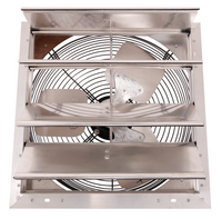 AirFlo-NF Shutter Mounted 3 Speed Wall Exhaust Fan 16 Inch w/ 9' Cord & Plug 1400 CFM 16NFSF4T75C