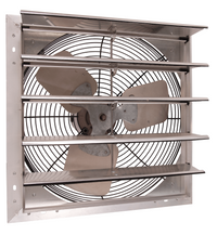 AirFlo-NF Shutter Mounted Wall Exhaust Fan 18 Inch w/ 9' Cord & Plug 3130 CFM Variable Speed 18NFSF4V180