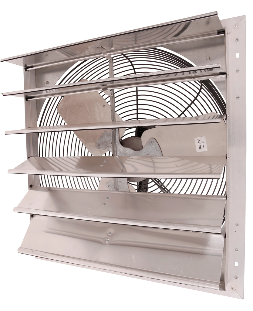 AirFlo-NF Shutter Mounted Wall Exhaust Fan 24 Inch w/ 9' Cord & Plug 4450 CFM 2 Speed 24NFSF6D240