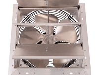 AirFlo-NF Shutter Mounted Wall Exhaust Fan 10 Inch w/ 9' Cord & Plug 650 CFM Variable Speed 10NFSF4V30