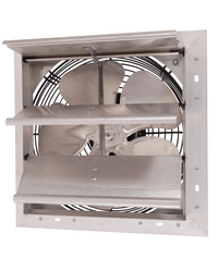 AirFlo-NF Shutter Mounted Wall Exhaust Fan 12 Inch w/ 9' Cord & Plug 1100 CFM Variable Speed 12NFSFV35