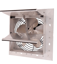 AirFlo-NF Shutter Mounted Wall Exhaust Fan 8 Inch w/ 9' Cord & Plug 300 CFM Variable Speed 8NFSF4V30