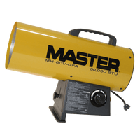 Master Portable Gas Forced Air Heater 60000 BTU's MH-60V-GFA