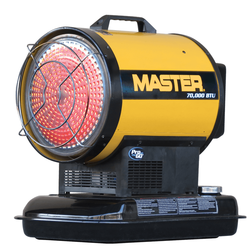 Master Portable Kerosene Radiant Heater 70000 BTU's MH-70-SS-A, [product-type] - Industrial Fans Direct
