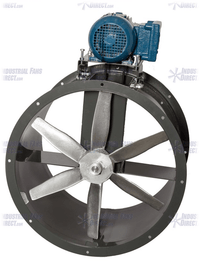 AirFlo Wet Environment Tube Axial Fan 12 inch 1875 CFM 3 Phase Belt Drive NBC12-C-3-T