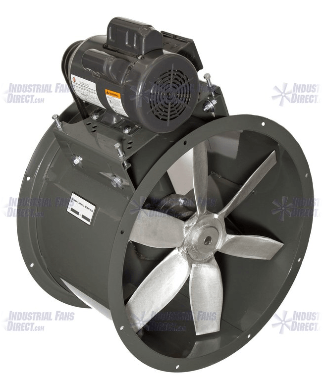 AirFlo Explosion Proof Tube Axial Fan 42 inch 23700 CFM 3 Phase Belt Drive NBP42-H-3-E