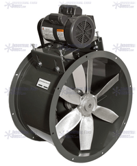 AirFlo Explosion Proof Tube Axial Fan 18 inch 4600 CFM 3 Phase Belt Drive NB18-E-3-E