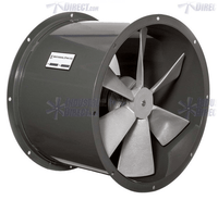 AirFlo Explosion Proof Tube Axial Fan 12 inch 1180 CFM 3 Phase Direct Drive ND12-A-3-E
