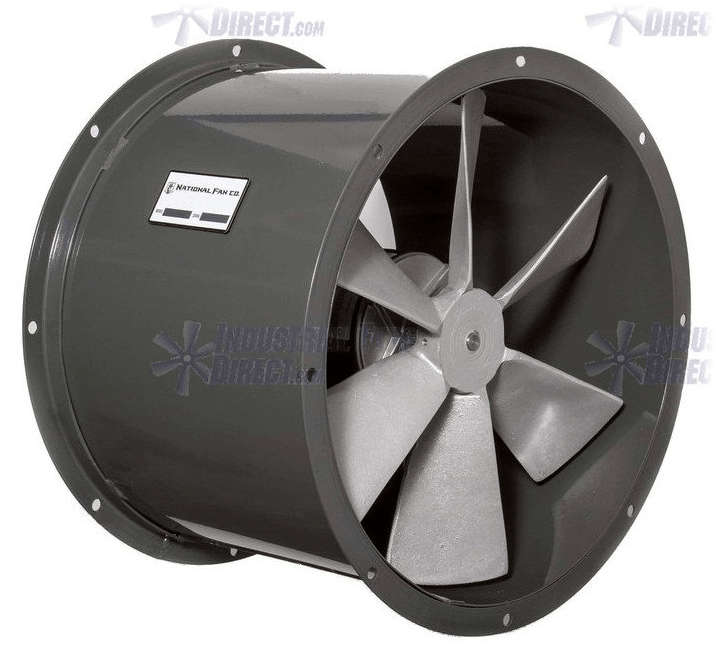AirFlo Explosion Proof Tube Axial Fan 12 inch 2044 CFM Direct Drive ND12-D-1-E