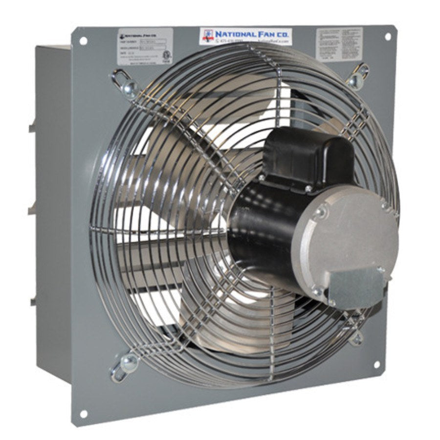 SF Exhaust Fan w/ Shutters Variable Speed 12 inch 1683 CFM Direct Drive SF12EVD, [product-type] - Industrial Fans Direct