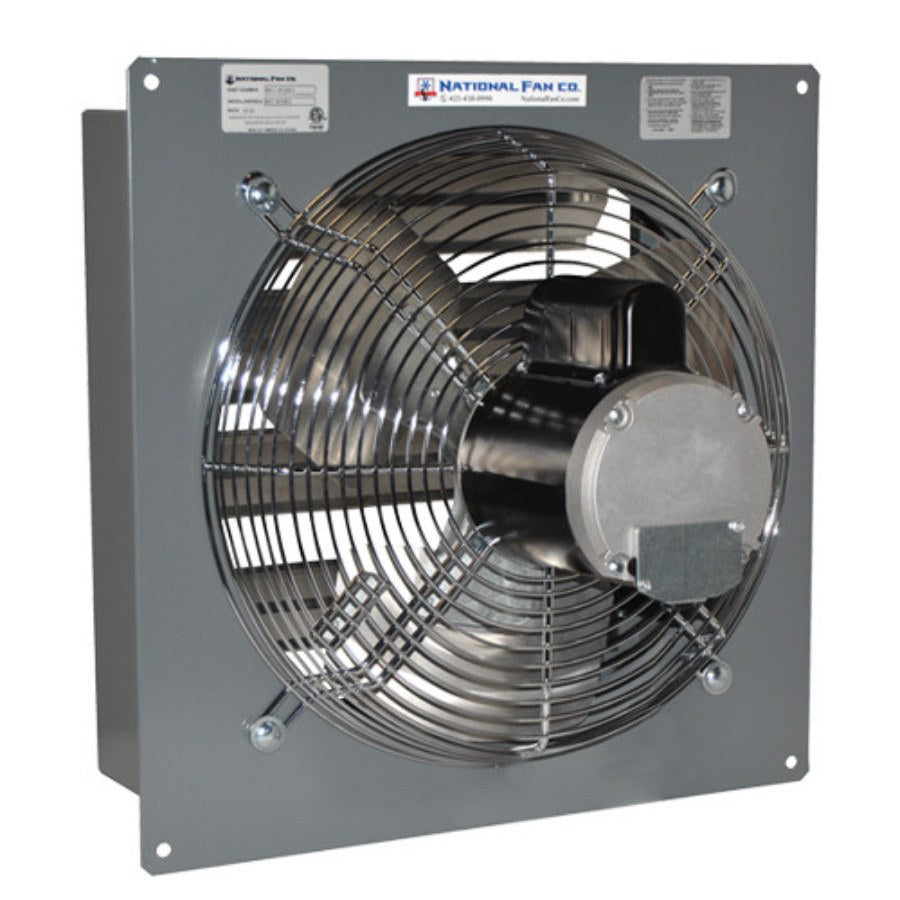 SF Exhaust Fan w/ Shutters Variable Speed 16 inch 2417 CFM Direct Drive SF16EVD, [product-type] - Industrial Fans Direct