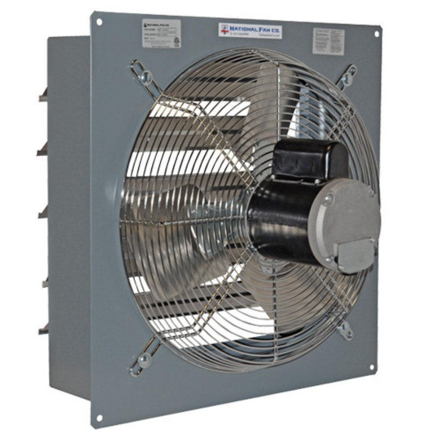 AirFlo-SF Exhaust Fan w/ Shutters 20 inch 3509 CFM 2 Speed SF20F2 ... for Industrial Roof Exhaust Fan  166kxo