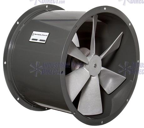 AirFlo Tube Axial Duct Fan 30 inch 16000 CFM 3 Phase Direct Drive ND30-H-3-T