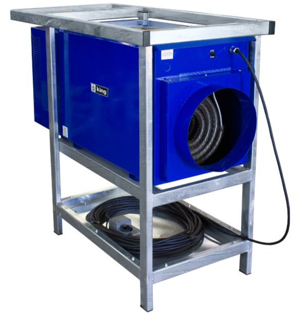 King Industrial Portable Outdoor Rated Unit Heater w/ 100' Cord 85300 BTU 208V 3 Ph PCKF2025-3