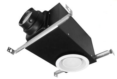 "Premium Choice Recessed Vent Light Bathroom Exhaust Fan 4"" or 6"" inch Duct Adapter 80 CFM PCRL80"