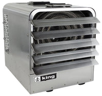 King PKBS Stainless Steel Portable Unit Heater w/ 6 Ft Cord 17061 BTU 480V 1 Ph PKBS4805-1-T-FM