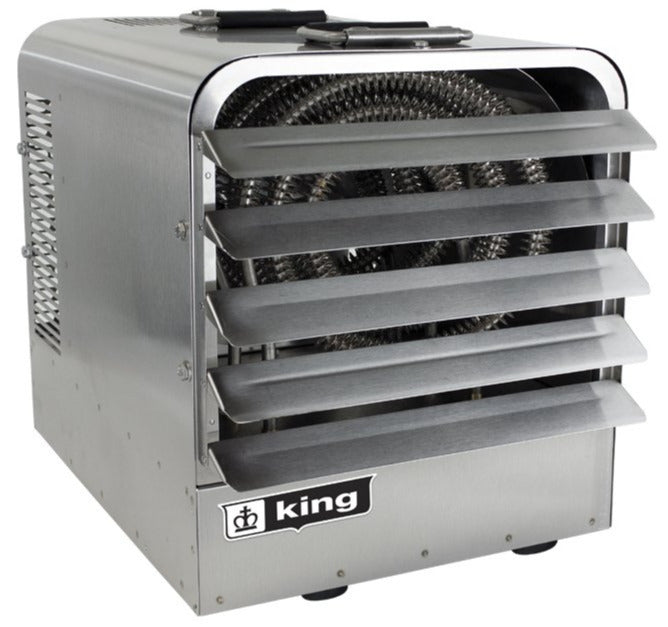 King PKBS Stainless Steel Portable Unit Heater w/ 6 Ft Cord 51182 BTU 240V 3 Ph PKBS2415-3-T-FM