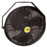 Black Indoor/Outdoor Air Circulator Fan 3 Speed 18 inch 3120 CFM POW18B, [product-type] - Industrial Fans Direct