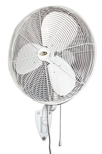 White Indoor / Outdoor Rated Oscillating Circulator Fan 3 Speed 24 inch 5580 CFM POW24OSC