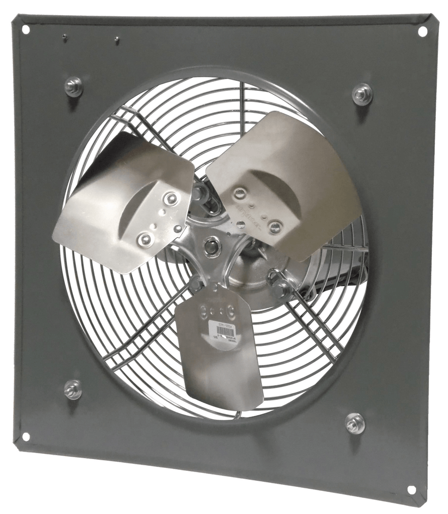 Wall Mount Panel Type Exhaust Fan 12 inch Variable Speed 1650 CFM Direct Drive P12-1V