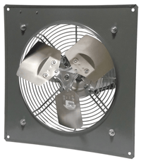 Wall Mount Panel Type Exhaust Fan 12 inch 1650 CFM 3 Phase Direct Drive P12-1M
