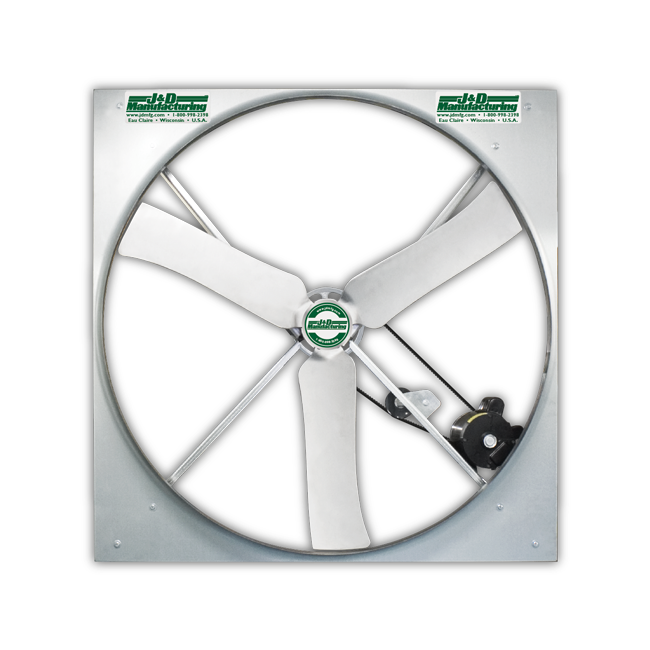 Panel Mount Fan Galvanized Prop 50 inch 21200 CFM 3 Phase Belt Drive VPX50GV31031-E